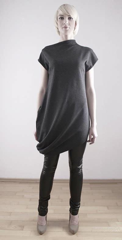 L A Tunic Grey grey tunic l bluzki tuniki pakamera pl