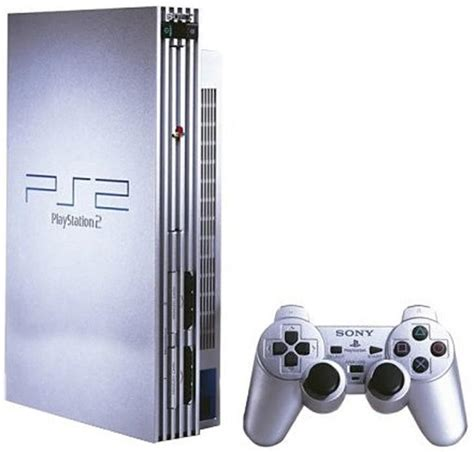 ps2 console console playstation 2 argent silver acheter vendre