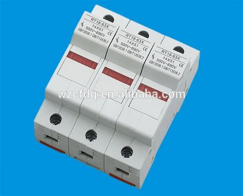 Fuse Holder Rt18m 63 Din Rail Mounting Wo L fchfe cylindrical plastic low voltage din rail mounting