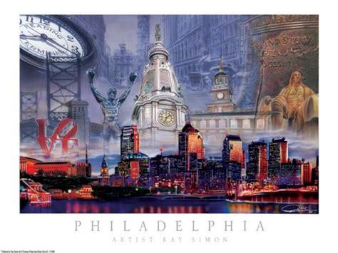 philadelphia city skyline poster artwork collage print