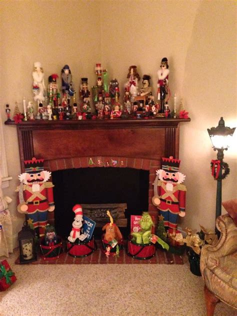 how to decorate a mantle with nutcrackers nutcracker collection as mantel decor mantles a