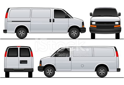 Chev Express Savana Van 2007 Sliding Vector Template Stock Vector Freeimages Com Free Vehicle Wrap Templates