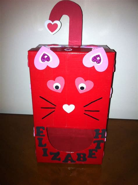 cat valentines box cat box wrap shoebox with duct