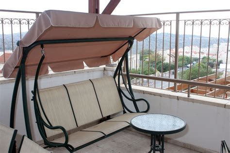Apartment Patio Swing Porch Swing On Terrace Luxury Apartment In Ramat Beit