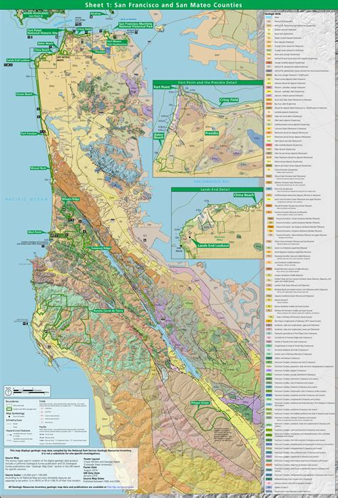 san francisco geology map point reyes maps npmaps just free maps period