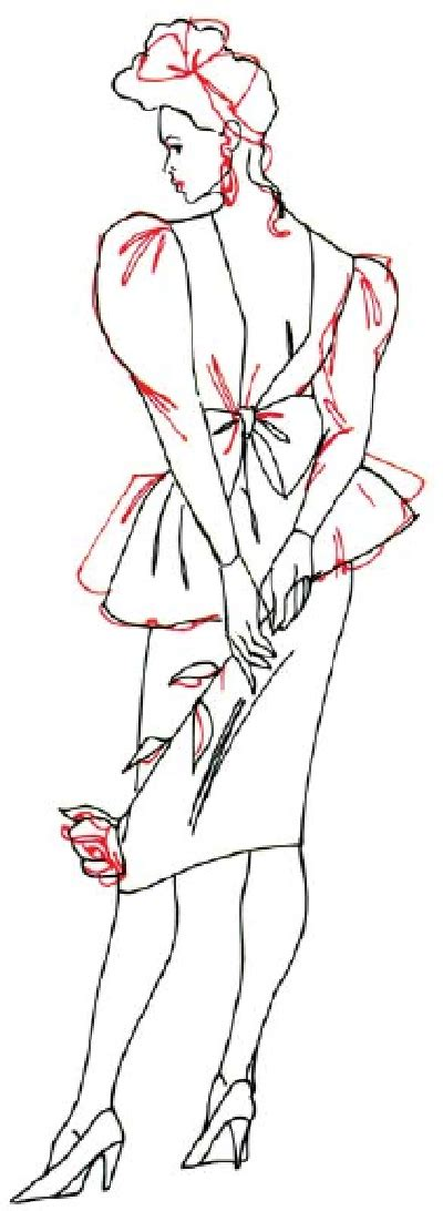 Steps To Dress For A Cocktail by 4 Add Detail To The Dress How To Draw A In A