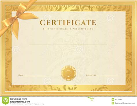 certificate template best photos of gold certificate templates gold award