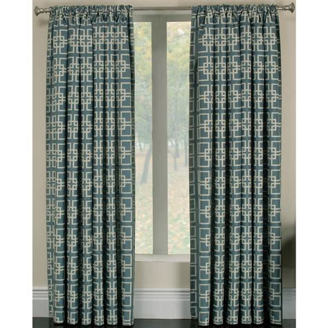 curtains at lowes shop allen roth thaddeus 95 in l geometric wave rod