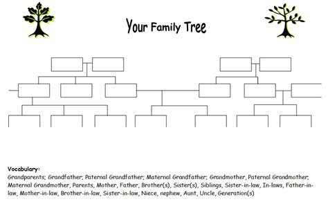 Family Tree Worksheets by Efl 2 0 Resources