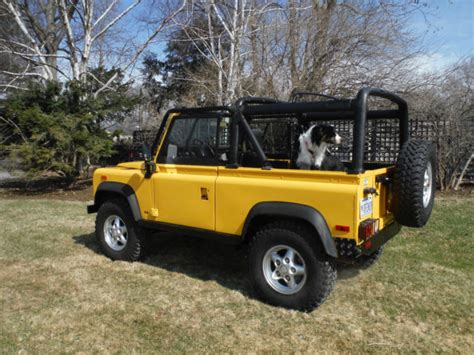 land rover defender convertible for sale land rover defender convertible 1994 yellow for sale