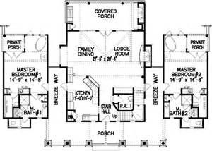 Single Story House Plans With 2 Master Suites Dual Master Bedrooms 15705ge 1st Floor Master Suite