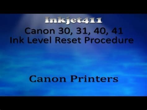 reset canon ip1880 ink level canon ink level reset procedure canon 30 211 ink