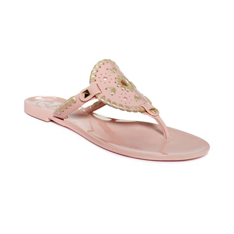 pink jelly sandals lyst rogers georgica jelly sandals in pink