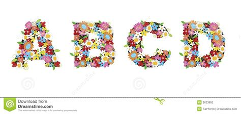 abcd pattern program in c abcd spring flowers stock photography image 2623892