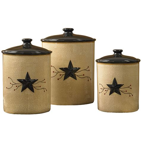 large black canister cl top canister set black and