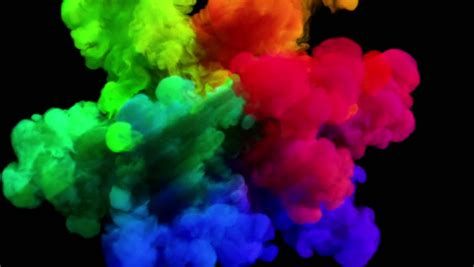 color explosion on black quot spectrum quot with alpha matte hd stock footage 9524804