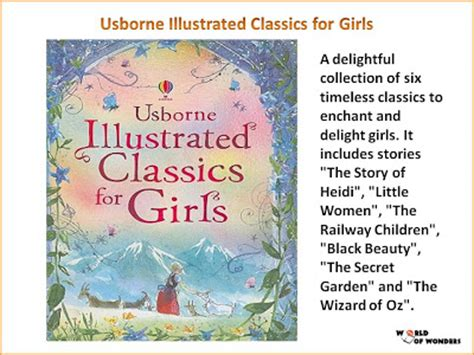 illustrated classics for girls 1409566463 world of wonders june 2011