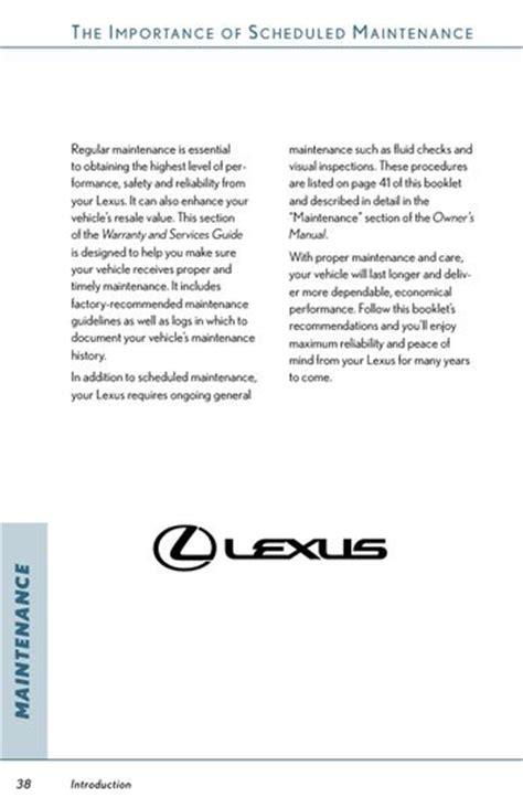 lexus scheduled maintenance 2007 lexus rx350 scheduled maintenance guide pdf