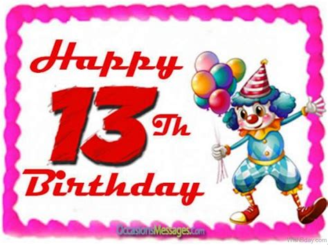 13th Happy Birthday Wishes 62 13th Happy Birthday Wishes