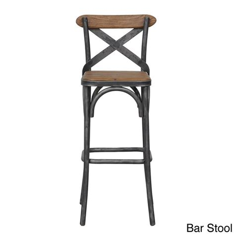Iron Bar Stools Rustic by Kosas Home Dixon Rustic Brown And Black Reclaimed Pine And