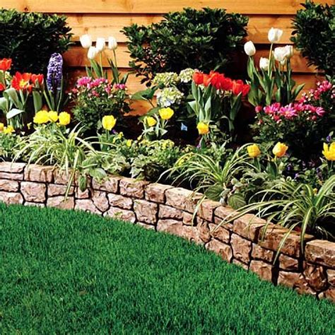 stone flower bed border flower beds yards and front yards on pinterest