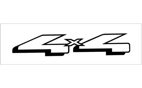 Ford 4x4 Decals by Graphic Express Ford Truck 4x4 Decal 1 9 Quot X 9 Quot