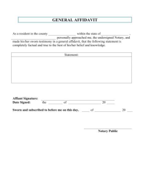 7 Affidavit Form Templates Word Excel Pdf Formats Affidavit Template Pdf