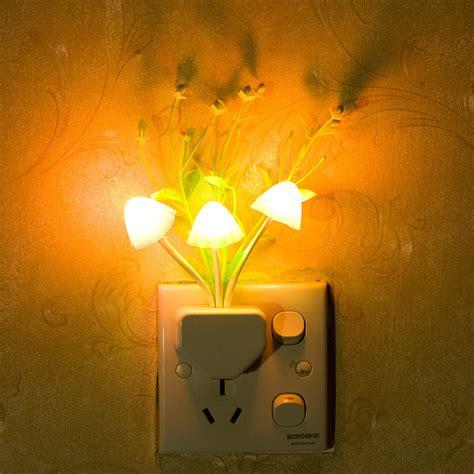 light sensitive night light colorful photo sensor sensitive led night light mushroom