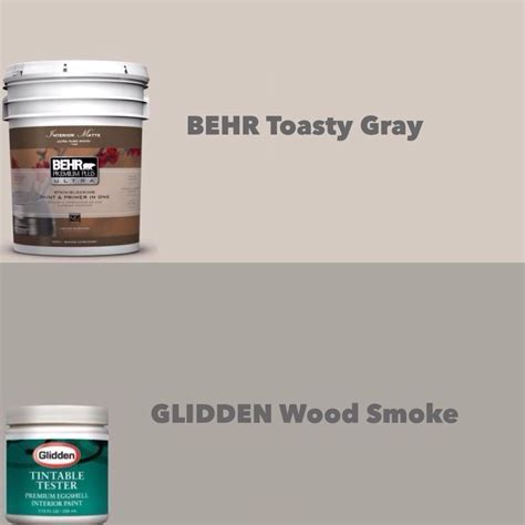 my neutrals behr toasty gray glidden wood smoke just in case i lose the paint chips