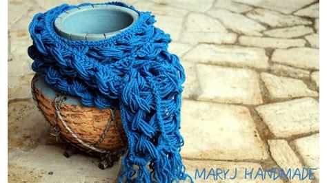 sciarpa con fiori all uncinetto sciarpa all uncinetto semplice e originale