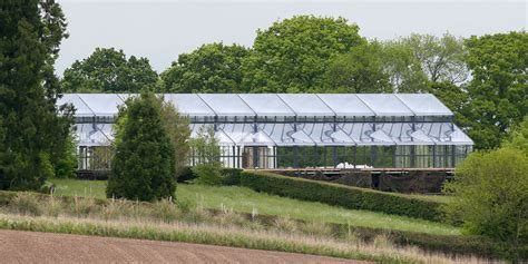 pippa middleton wedding glass marquee installed at