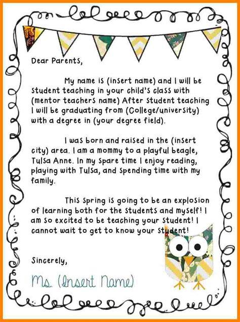 teacher introduction letter  parents sample