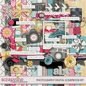 Photography digital scrapbooking kit 187 scrapvine scrapvine