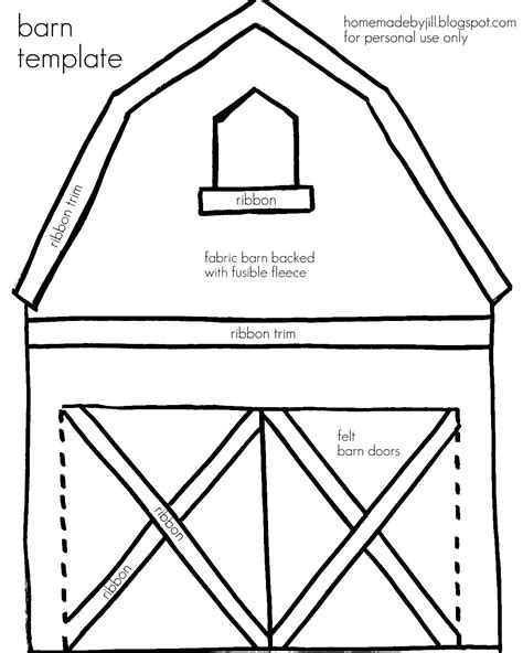 free coloring pages of red barn