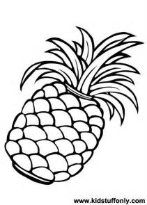 pineapple color pineapple design coloring pages