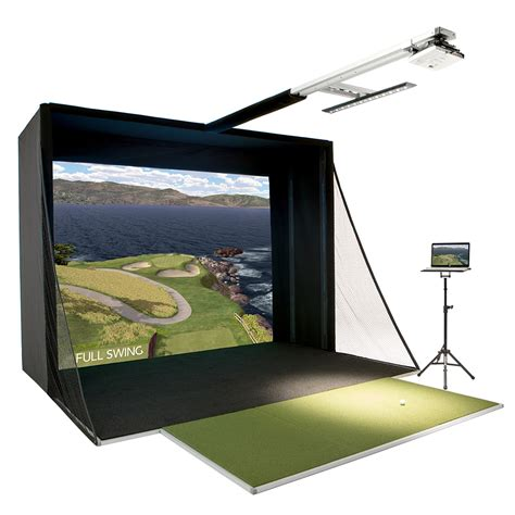 full swing golf simulator reviews full swing s2 golf sim w upgraded projector game room guys