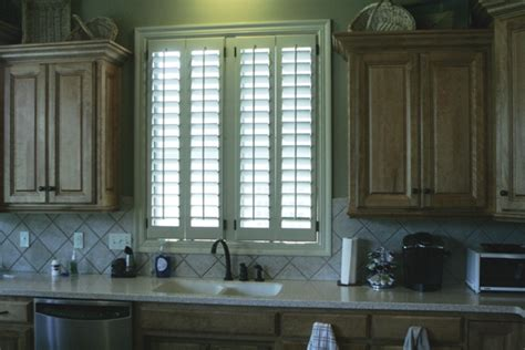 kitchen window shutters interior kitchen shutters