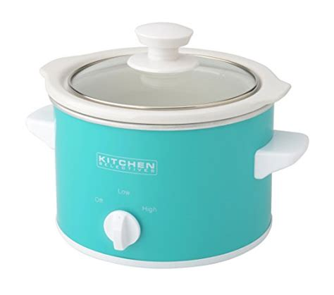 kitchen selectives slow cooker 1 5 quart turquoise