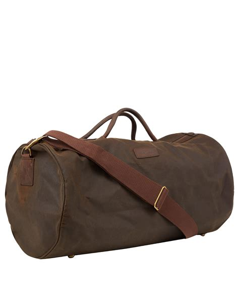 Filma Signature Olive Pouch 2 L lyst barbour olive wax cotton holdall bag in green for