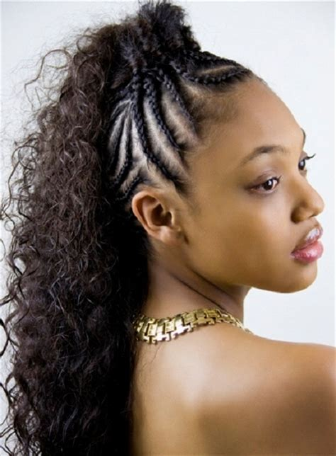 braided mohawk hairstyle best curly hair to use mohawk hairstyles for women with short and long hair