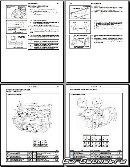car repair manual download 2009 lexus gx interior lighting кузовные размеры lexus gx470 uzj120 2002 2009 collision repair manual