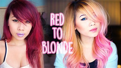 blonde hairstyles youtube red to blonde hair youtube