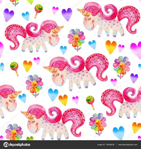 imagenes unicornios infantiles patr 243 n sin fisuras con unicornios chupetes flores