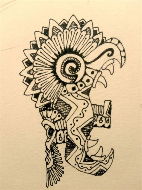 mayan tattoo design mayan drawing by burke5