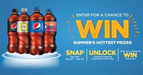 Sweepstake Prizes - pepsi fire sweepstakes snap unlock win big prizes