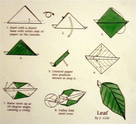 Simple Origami Leaf - origami major project design