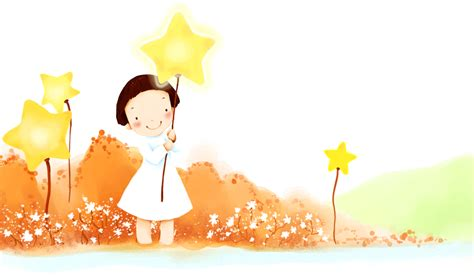 free cute in autumn holding a star ebay template