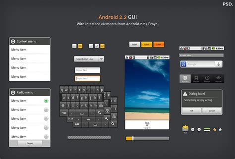 android interface android 2 2 gui
