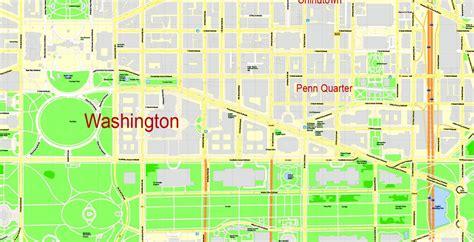 washington dc map to print washington dc printable map us exact vector map g