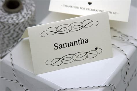 Free Diy Printable Place Card Template And Tutorial Polka Dot Bride Celebrate It Templates Place Cards